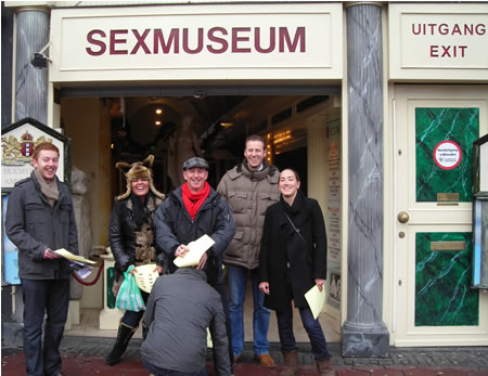 Stag and hen do in Amsterdam. Sex Museum.